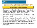 successful strategies under tpr4