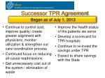 successor tpr agreement