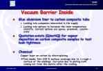 vacuum barrier inside
