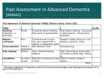 pain assessment in advanced dementia painad