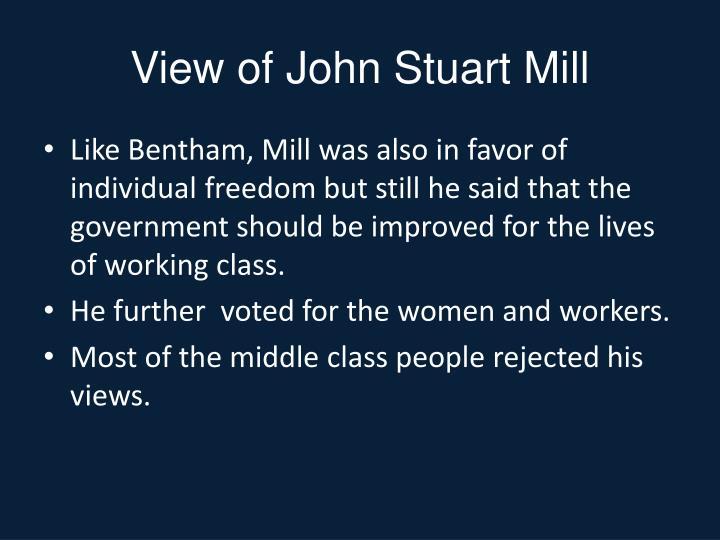 View of John Stuart Mill