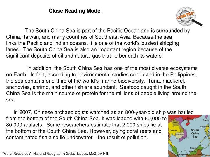 Close Reading Model