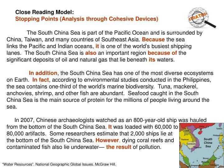 Close Reading Model: