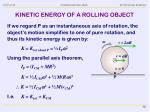 kinetic energy of a rolling object