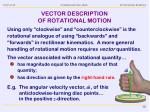 vector description of rotational motion