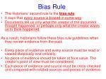 bias rule