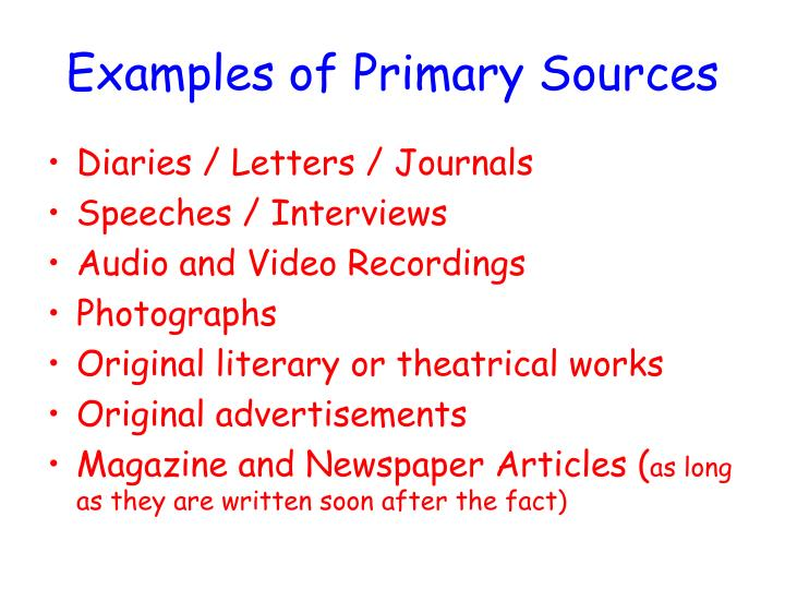 Ppt Primary And Secondary Sources Powerpoint Presentation Id2242988