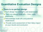 quantitative evaluation designs