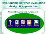 relationship between evaluation design approaches