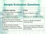 sample evaluation questions