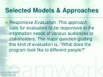 selected models approaches1