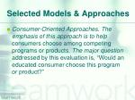selected models approaches2