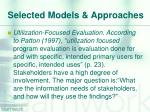 selected models approaches3