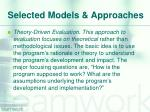 selected models approaches5