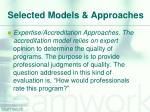selected models approaches6