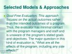 selected models approaches7