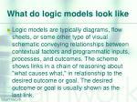 what do logic models look like