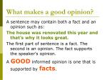 what makes a good opinion