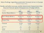 more findings regarding systematic forecast errors in europe frankel schreger 2013a