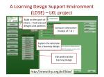 a learning design support environment ldse lkl project