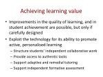 achieving learning value