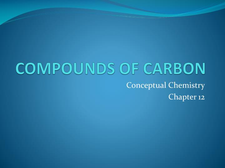 compounds of carbon n.