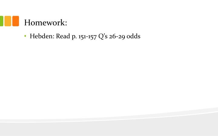 Homework: