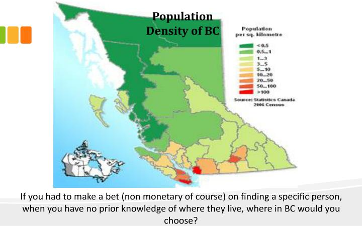 Population Density of BC