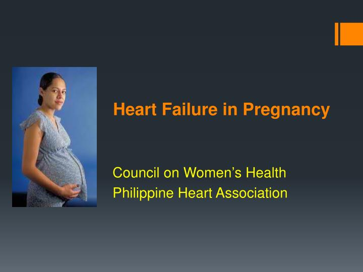 heart failure in pregnancy n.