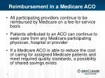 reimbursement in a medicare aco