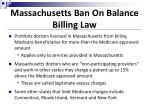 massachusetts ban on balance billing law