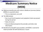 medicare summary notice msn