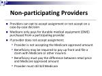 non participating providers