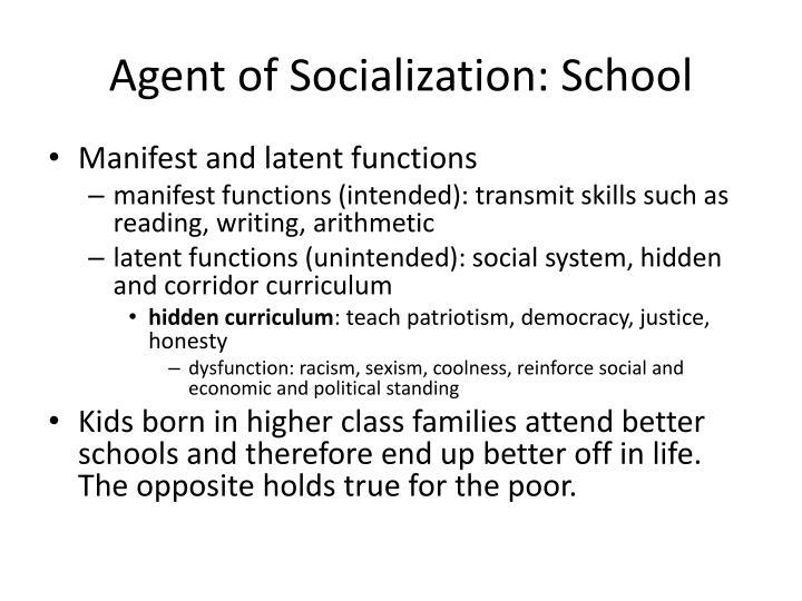 role of school in socialization