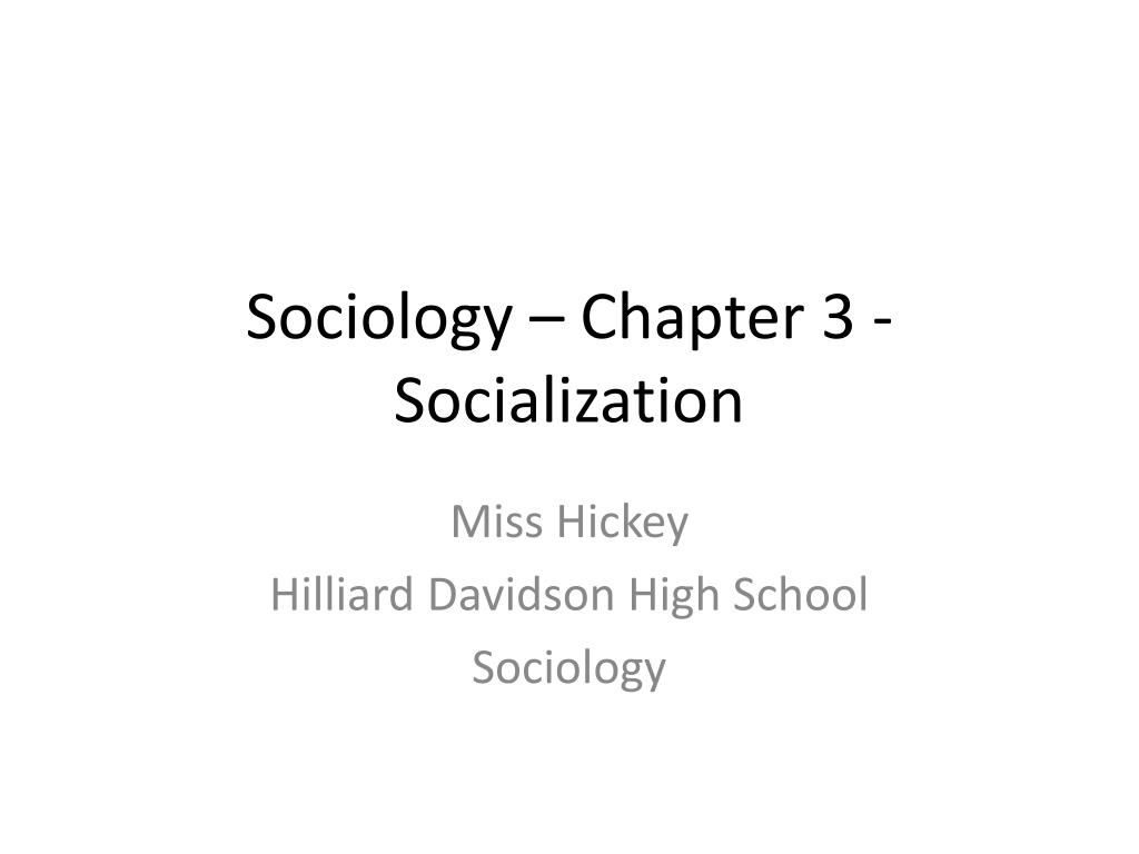 concept of socialization in sociology