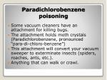 paradichlorobenzene poisoning