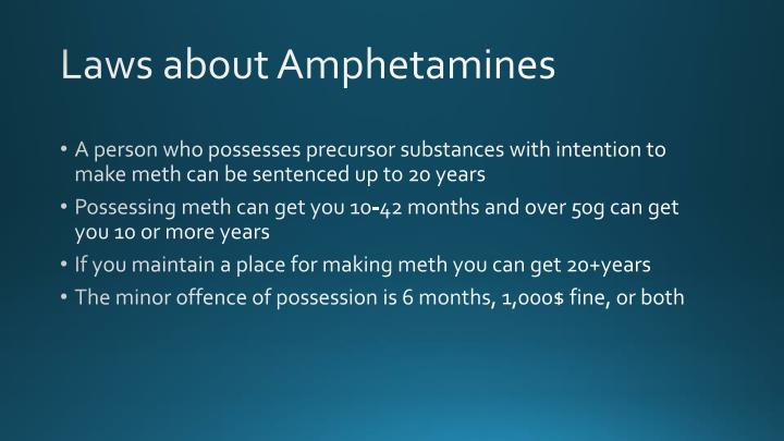 Laws about Amphetamines