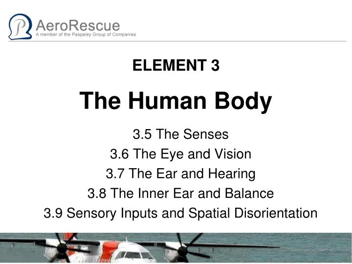 element 3 the human body n.