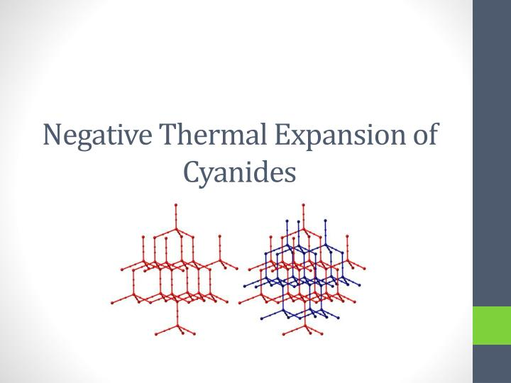 negative thermal expansion of cyanides n.