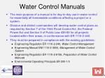 water control manuals