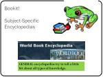 bookit subject specific encyclopedias