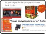 subject specific encyclopedias have their limits