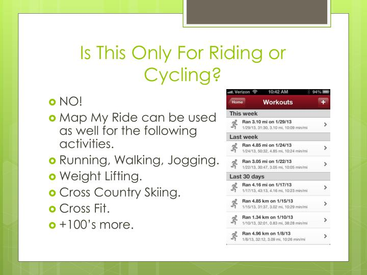 Is This Only For Riding or Cycling?