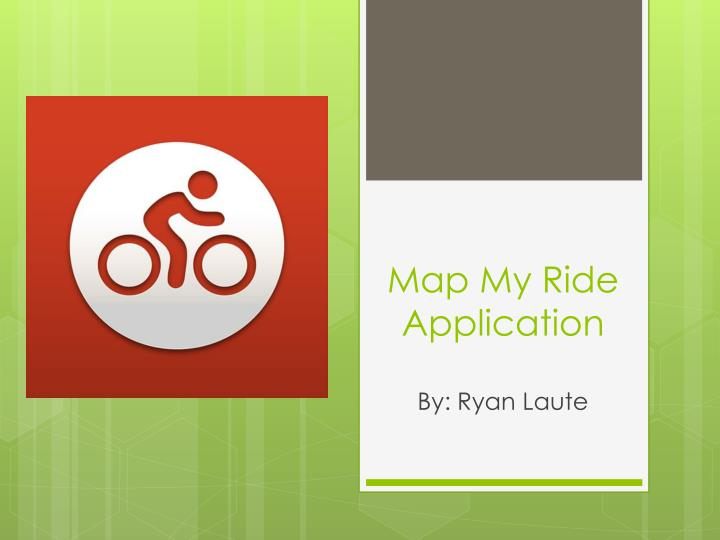 map my ride application n.