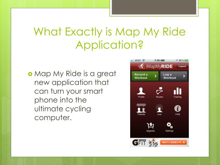 What exactly is map my ride application