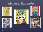 almanac examples