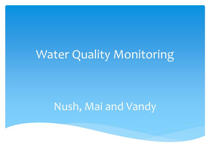 water quality monitoring n.