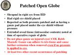 patched open globe