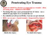 penetrating eye trauma