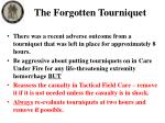 the forgotten tourniquet1